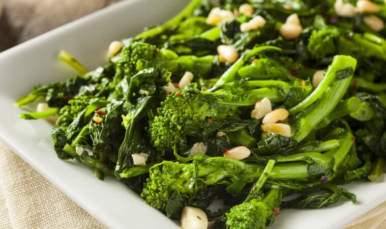 Broccoli raab sauteed with