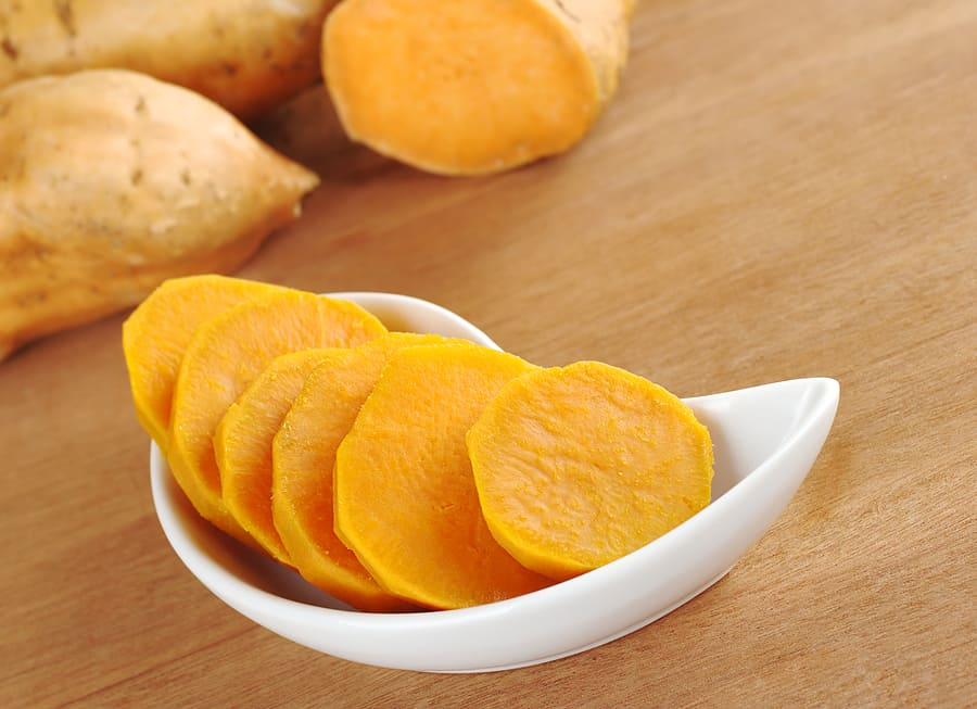 Sweet potatoes cooked