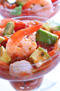 Avocado and seafood