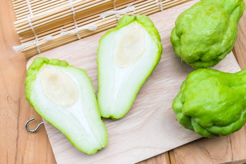 Chayote halved