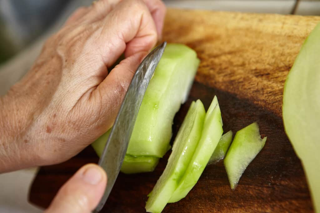 Chayote slices