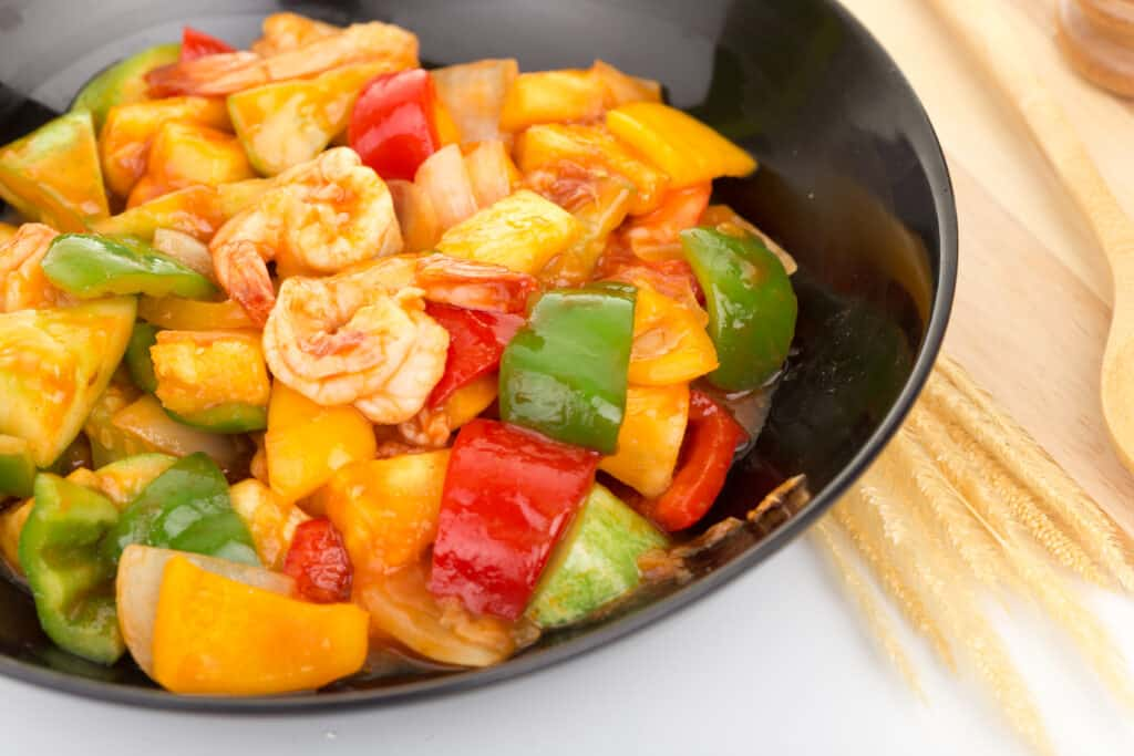 Saute of peppers and vegetables