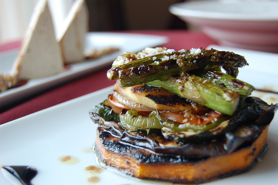 Eggplant and grilled vegetables