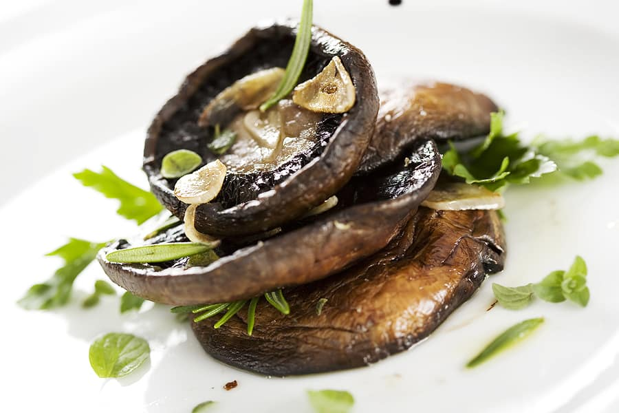 Portobello mushrooms grilled