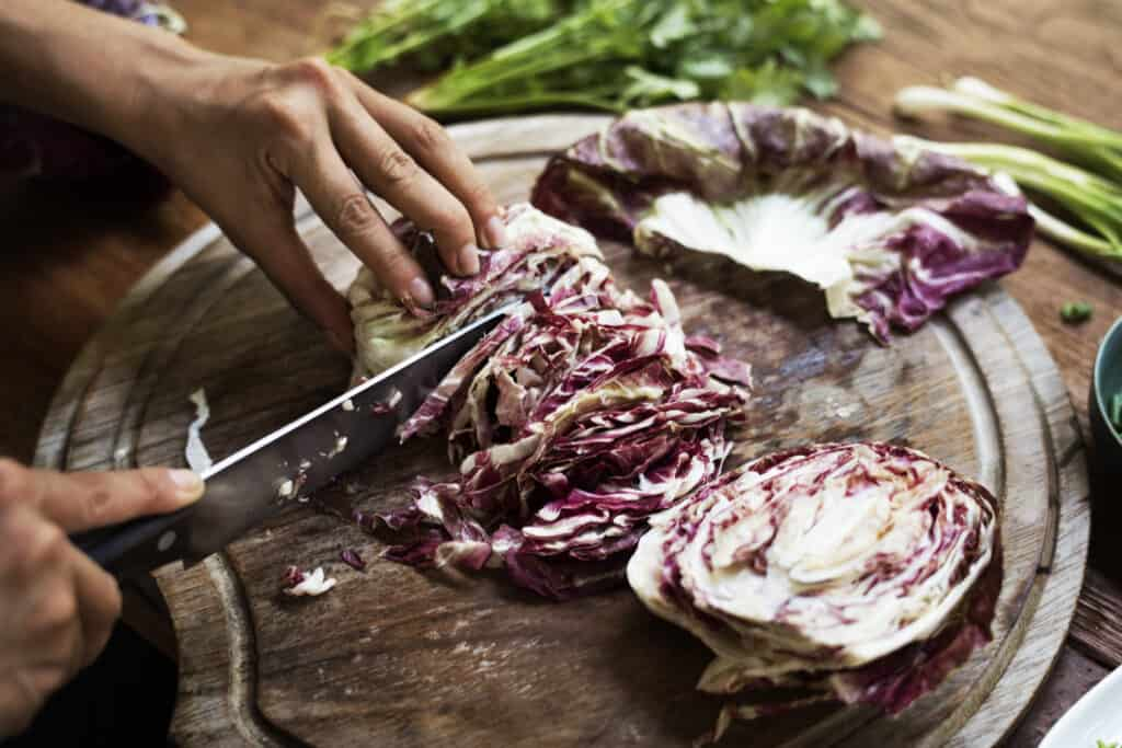 Radicchio chopping
