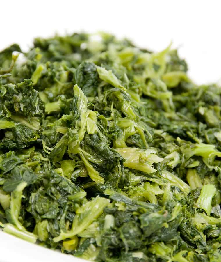 Mustard greens steamed