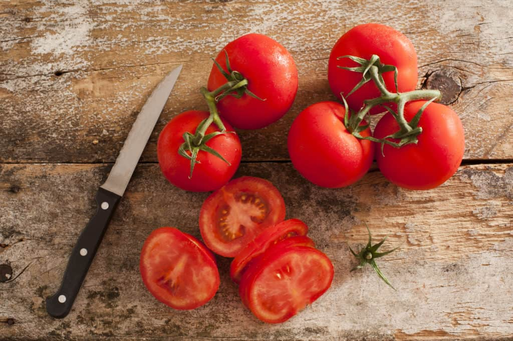 Tomatoes in kitchen